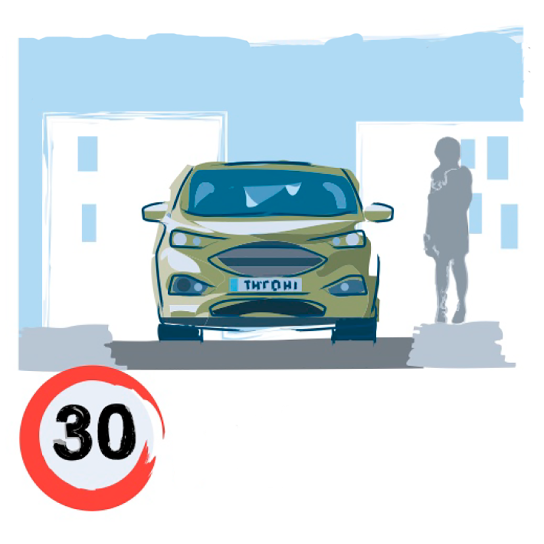 Velocidad Máxima en ciudad de 30Km/h
